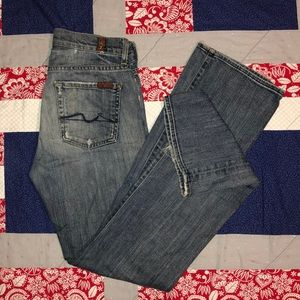 W28 L33 7 For All Mankind Boot Cut Jeans